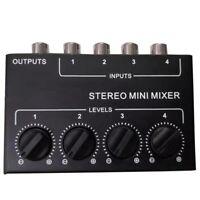 Cx400 Mini Stereo Rca 4-Kanal Passiv Mixer Klein Mixer Mixer Stereo Dispens Y8V1