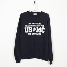 Vintage CHAMPION USA USMC University Sweatshirt Jumper Blue   Medium M