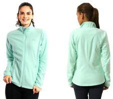 adidas Fleece Jacke Zipp Damen Reachout Sweatschirt Pullover Outdoor Mint Grün
