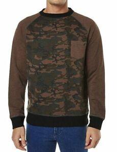 Lost Men Camo Crew Neck Fleece Jumper Sweater Sz US L AU L-XL BRAND NEW NWT