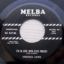 VIRGINIA LOWE I'm in love with Elvis Presley 1956 TEEN ROCKER on MELBA 45 c2182