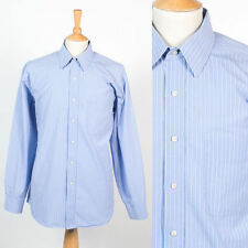 TOMMY HILFIGER MENS SHIRT BLUE AND WHITE STRIPED SMART PREPPY OFFICE SUIT XL