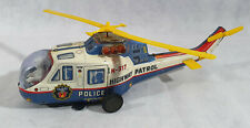 TPS Tin Toy, Battery Operated Super Flying Police Helicopter - Highway Patrol
