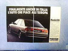 QUATTROR990-PUBBLICITA'/ADVERTISING-1990- MAZDA 626 -2 fogli