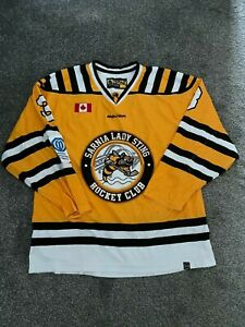 BAUER SARNIA LADY STING  ICE HOCKEY JERSEY TOP USED MEN'S SIZE S B46