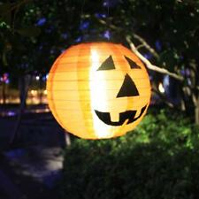 Halloween LED Solar Pumpkin Lantern DIY Wire Hanging Home Outdoor Garden Decor