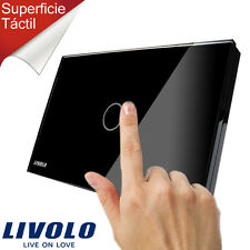 Interruptor negro de pared Livolo Ultra fino panel Touch Screen US / au Versión