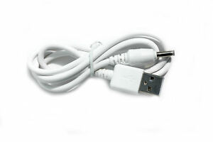 90cm USB 5V 2A White Charger Power Cable Lead Adaptor for Lelo Insignia Massager