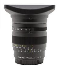 Tokina FRN-MF20FXSE 20mm F2 FE MF Lens for Sony E From Japan F/S