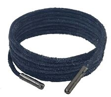 Shoe and Boot Laces Grey 3 mm Round Leather