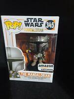Funko POP! Star Wars The Mandalorian Chrome Amazon Exclusive #345 in hand