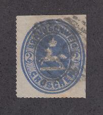 Brunswick Sc 25 used. 1865 2gr Leaping Saxon Horse w/ 6 in diamond cancel