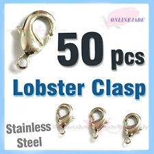 50 pcs Copper Lobster Parrot Clasp Stainless 12mm for DIY phone strap