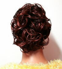 HAARGUMMI HAARTEIL IN BRAUN ROT Zopfgummi K01 Scrunchie Hair Piece brown red