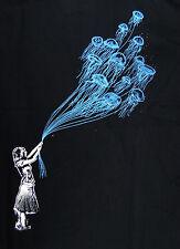 Kid Love Jelly Fish Balloon Deep Sea Banksy style scuba dive Man T-shirt XL