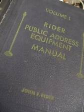 John F. Rider Public Address SERVICE MANUAL CD HUGE / With Radio Repair BONAS !