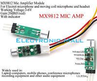 3-6V MAX9812L MIC Amplifiter Noise Filter Power Regulator For Audio Device DIY