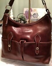 Dooney Bourke Florentine Vachetta Leather LUCY Hobo Tote Sac Bag Chestnut Brown