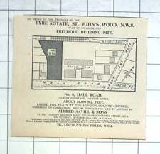 1936 Building Site, 6 Hall Road St John's Wood For Sale