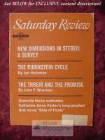 Saturday Review March 31 1962 ARTUR RUBINSTEIN IGOR STRAVINSKY JAN HOLCMAN