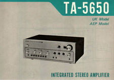 SONY TA-5650 SERVICE MANUAL INC SCHEM DIAGS ENGLISH INTEGRATED STEREO AMPLIFIER