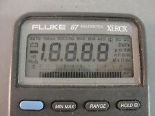 ��FLUKE 87 MULTIMETER XEROX DIGITAL VOLTAGE ELECTRIC METER TEST TOOL W/LEADS��
