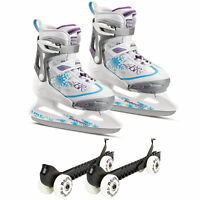Rollerblade Bladerunner Micro Ice G Skates, Small and Skate Guard Rollers (Pair)