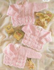 "Knitting Pattern Babys Childrens Cardigans Set of Three 16""-26"" dk"