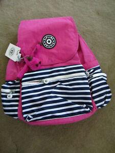 Kipling EZRA Backpack K10291 Superb Stripe Pink New with tag authentic $114