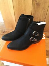 Womens Superdry Cowboy Rodeo Monk Boots Black Uk Size 5