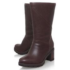 UGG® AUSTRALIA JESSIA STOUT BROWN LEATHER CALF BOOTS UK 6.5 EU 39 USA 8 RRP £220