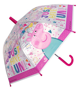 CHILDREN'S OFFICIAL LICENSED PEPPA PIG TRANSPARENT UMBRELLA BRAND NEW