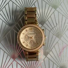 Michael Kors Parker Chronograph Champagne Dial Ladies Watch  - Gold SMALL WRIST