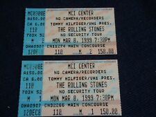THE ROLLING STONES 2 TICKET STUBS Mick Jagger Keith Richards Charlie Watts USA