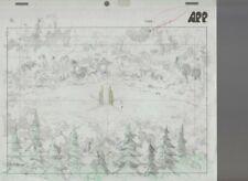 """Cadillacs & Dinosaurs 10.5x9.5"""" Animation Pencil Drawing 312 Hannah & Tenrec"""