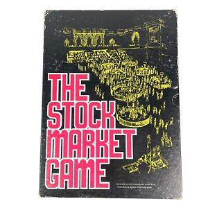 The Stock Market Board Game 1970 Avalon Hill Rare Vintage