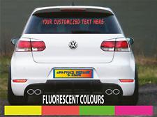 FLUORESCENT CUSTOM TEXT STICKER DECAL CHOOSE ANY COLOUR Car Windscreen Body Shop