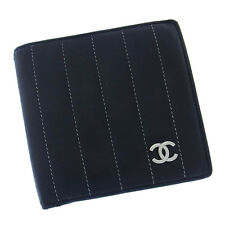 CHANEL Wallet Mademoiselle Line Ladies Authentic Used Y1972
