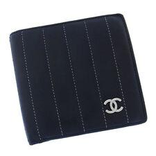 Auth Rare Chanel Bi-fold Wallet Mademoiselle Line Women''s used J6750