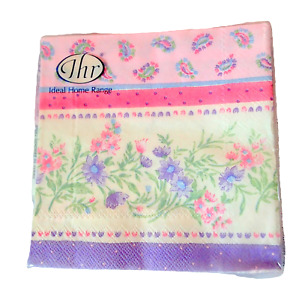 Ideal Home Range EASTER Napkins 3 Ply 10 x 10  20 ct PINK PURPLE Floral Spring
