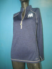* NEW *NEW YORK YANKEES MAJESTIC WOMEN'S HALF-ZIP LONG SLEEVE