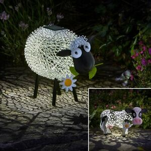 Solar Power Novelty LED Light Up Farm Animal Ornament | OR Spare Solar Panel