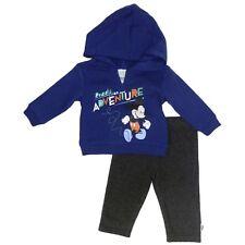 Disney Infant Boy 2 PC Mickey Ready For Adventure Hoodie Shirt Pant Set 3-6m