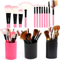 12x Makeup Brushes Kit Foundation Blush Lip Powder Contour Eyeshadow Brush&Case