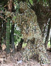 NEW 3D Leaf Army Camo Yowie Ghillie Suit Airsoft Sniper Tactical Hunting Suit