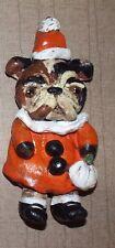 New Folk Art Ornament English Bulldog Halloween Bakers Clay Ornie Vintage Style