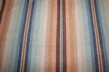 Tissu vintage, coton épais décor rayé, larg 65 cm x 106 cm
