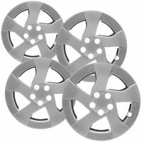 "Metallic Silver 4pcs Set #157 14/"" Inches Hubcaps Hub Cap Wheel Cover Rim Skin"