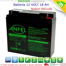 Batteria AGM ermetica al piombo 12V 18Ah SKB per trattorino tosaerba tagliaerba