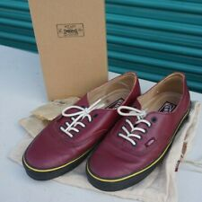 """VANS WTAPS BURGUNDY SYNDICATE AUTHENTIC 69 """"S"""" SHOES LEATHER SZ. 9 VN-OLX9BRG"""